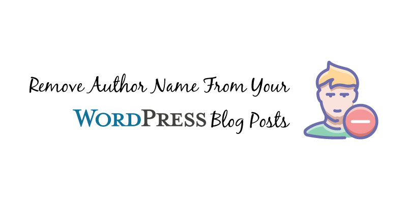 remove author from wordpress posts
